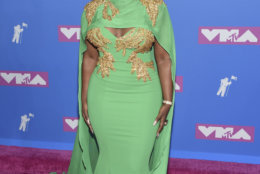 Amara La Negra arrives at the MTV Video Music Awards at Radio City Music Hall on Monday, Aug. 20, 2018, in New York. (Photo by Evan Agostini/Invision/AP)