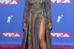 Ashanti arrives at the MTV Video Music Awards at Radio City Music Hall on Monday, Aug. 20, 2018, in New York. (Photo by Evan Agostini/Invision/AP)