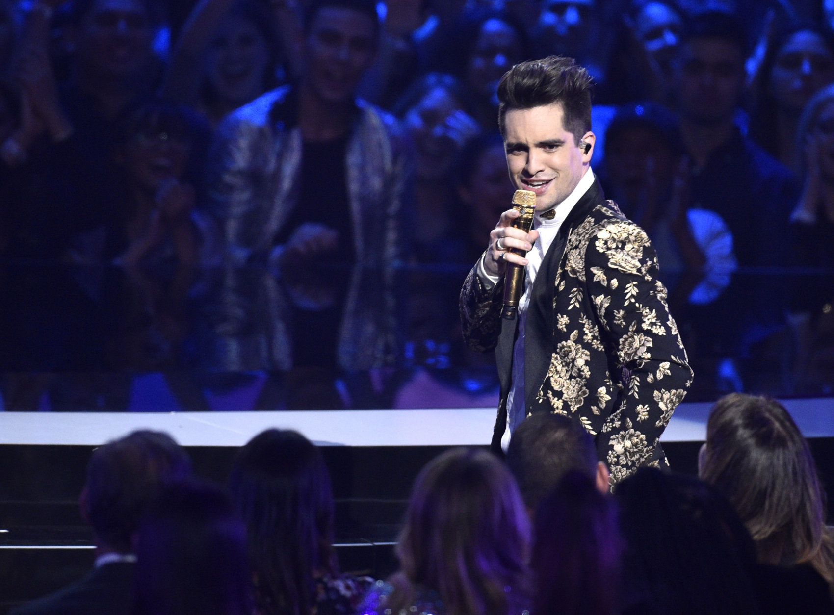 Brendon Urie of Panic! At the Disco performs at the MTV Video Music Awards at Radio City Music Hall on Monday, Aug. 20, 2018, in New York. (Photo by Chris Pizzello/Invision/AP)