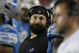 Detroit Lions head coach Matt Patricia during the second half of an NFL preseason football game against the Tampa Bay Buccaneers Friday, Aug. 24, 2018, in Tampa, Fla. (AP Photo/Jason Behnken)