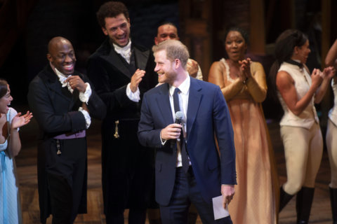 VIDEO: Prince Harry wows crowds by singing at Hamilton in London's West End