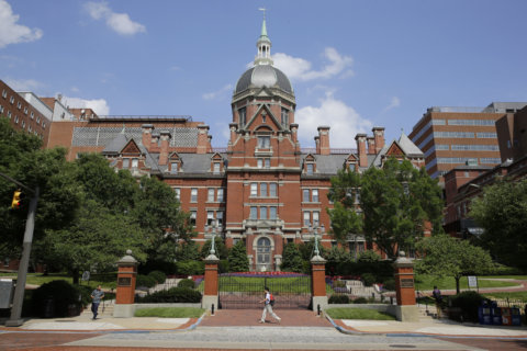 Labor groups rally at Johns Hopkins Hospital against medical debt lawsuits