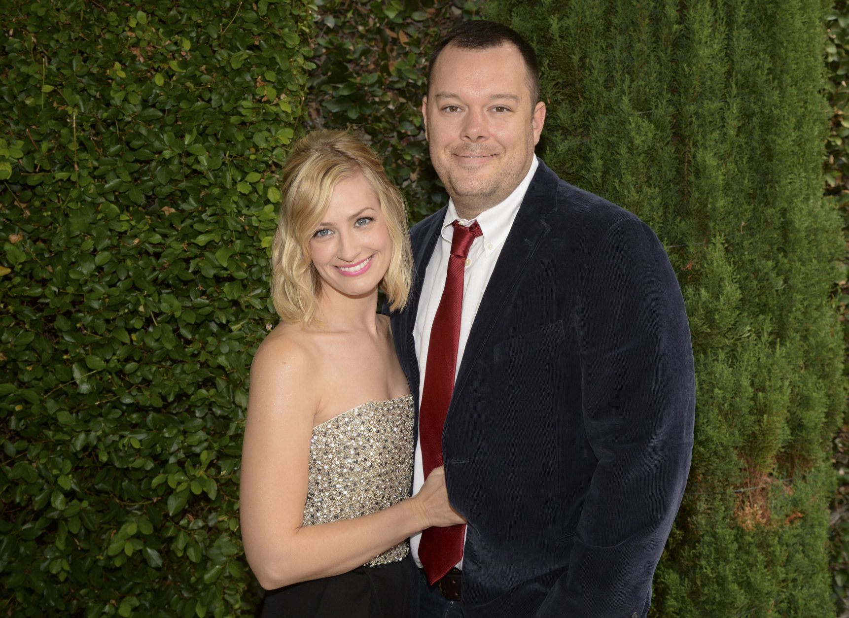 Beth Behrs, left and Michael Gladis seen at The Rape Foundation Annual Brunch on Sunday, Oct. 4, 2015, in Beverly Hills, Calif. (Photo by Phil McCarten/Invision/AP)