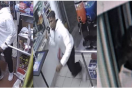 the suspect threatened the employee of a gas station in the 6000 block of Annapolis Road in Landover Hills with a knife and demanded cash.