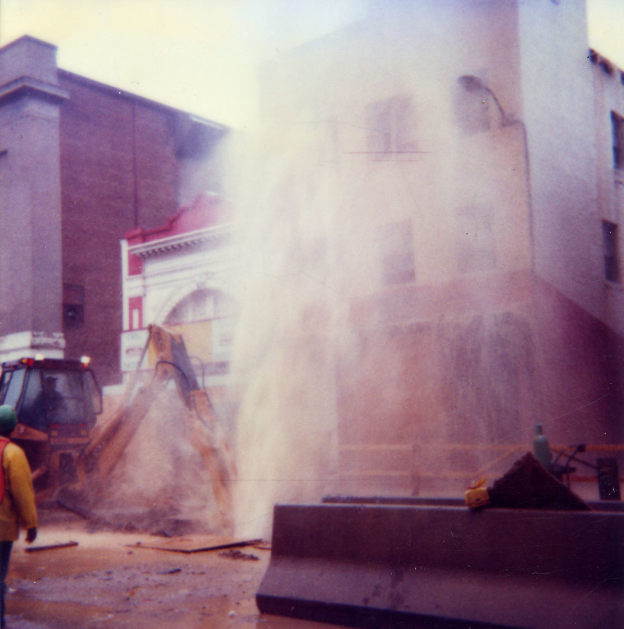 If you can make it out behind the debris, that's Ben's Chili Bowl during the construction of the Green Line in 1987. (Courtesy of Ben's Chili Bowl)