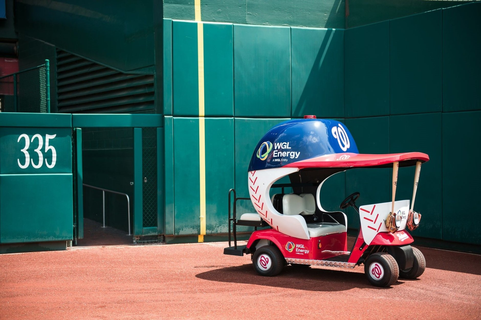 The bullpen cart at Nationals Park at its unveiling Friday. (Courtesy Washington Nationals)
