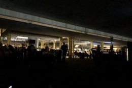 """Reagan National Airport tweeted about an airport-wide power outage shortly before 10 p.m. Wednesday, Aug. 15, 2018. (Courtesy Brigid Evans via Twitter <a href=""""https://twitter.com/be_brig/status/1029910965331132416"""">@be_brig</a>)"""