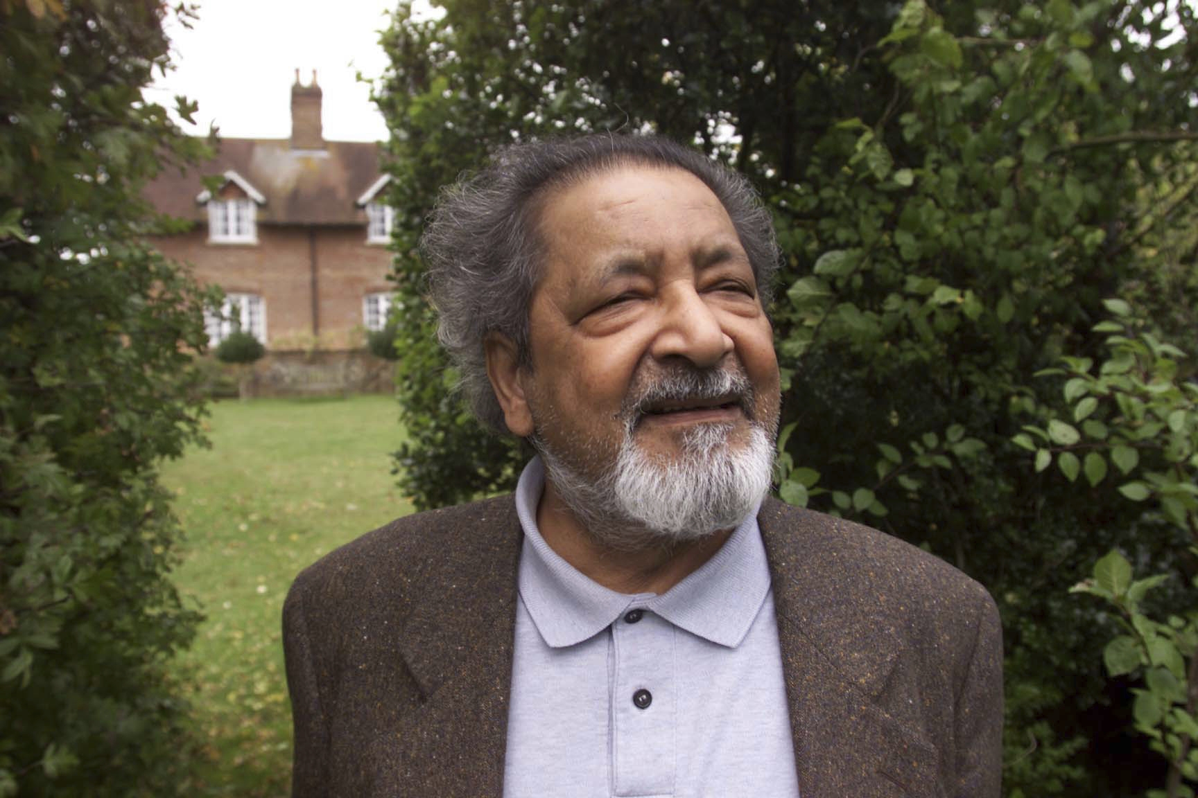 FILE - This 2001 file photo shows British author V.S. Naipaul in Salisbury, England. The Trinidad-born Nobel laureate whose celebrated writing and brittle, provocative personality drew admiration and revulsion in equal measures, died Saturday, Aug. 11, 2018, at his London home, his family said. He was 85. (Chris Ison/PA via AP)