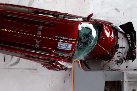 Is it safe? Mixed results for minivan models in passenger crash test