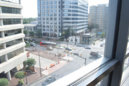 Here's the view of Wisconsin Avenue from the new WTOP space. (WTOP/Teta Alim)