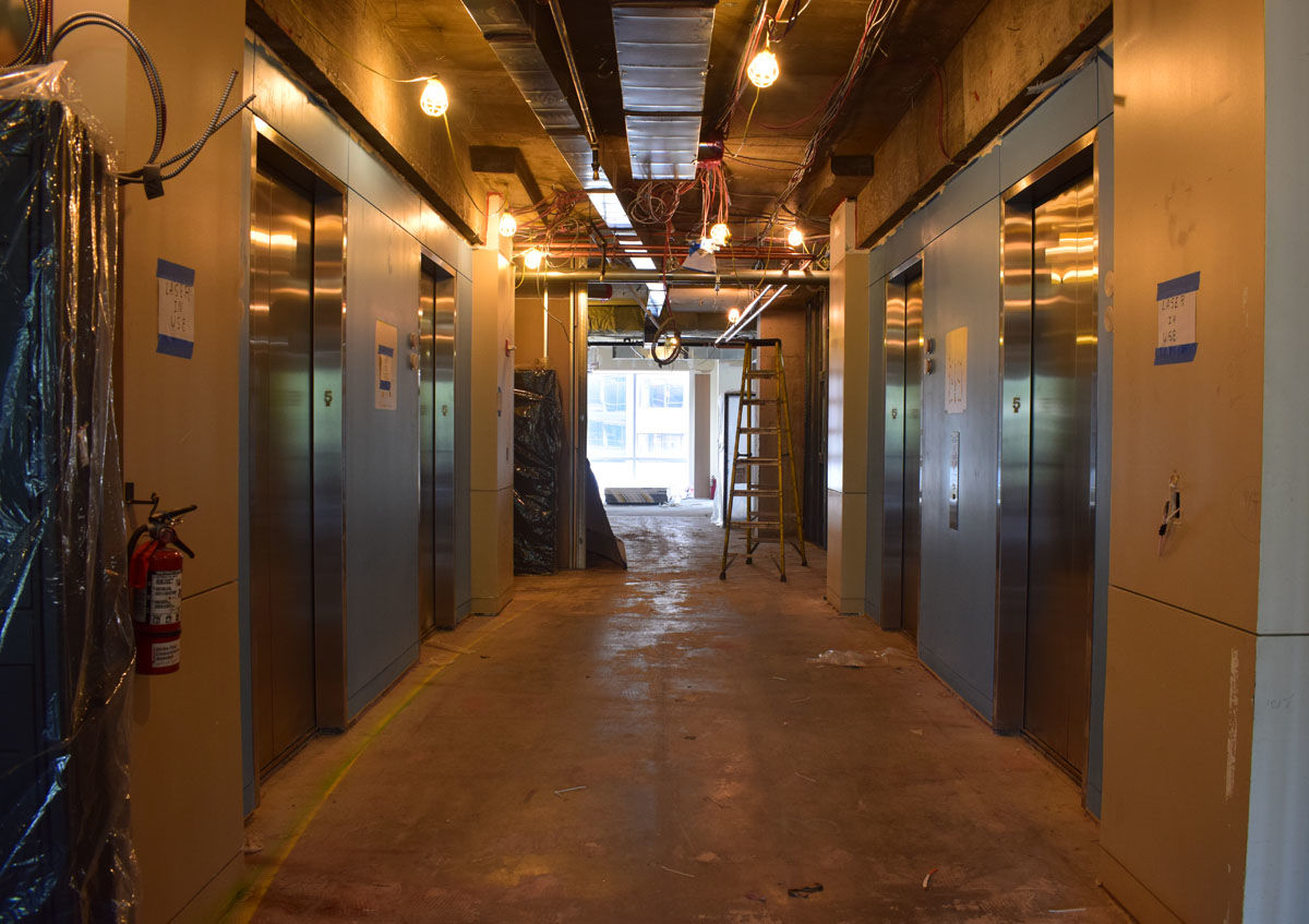 These are the main elevators leading into the new WTOP space. (WTOP/Teta Alim)