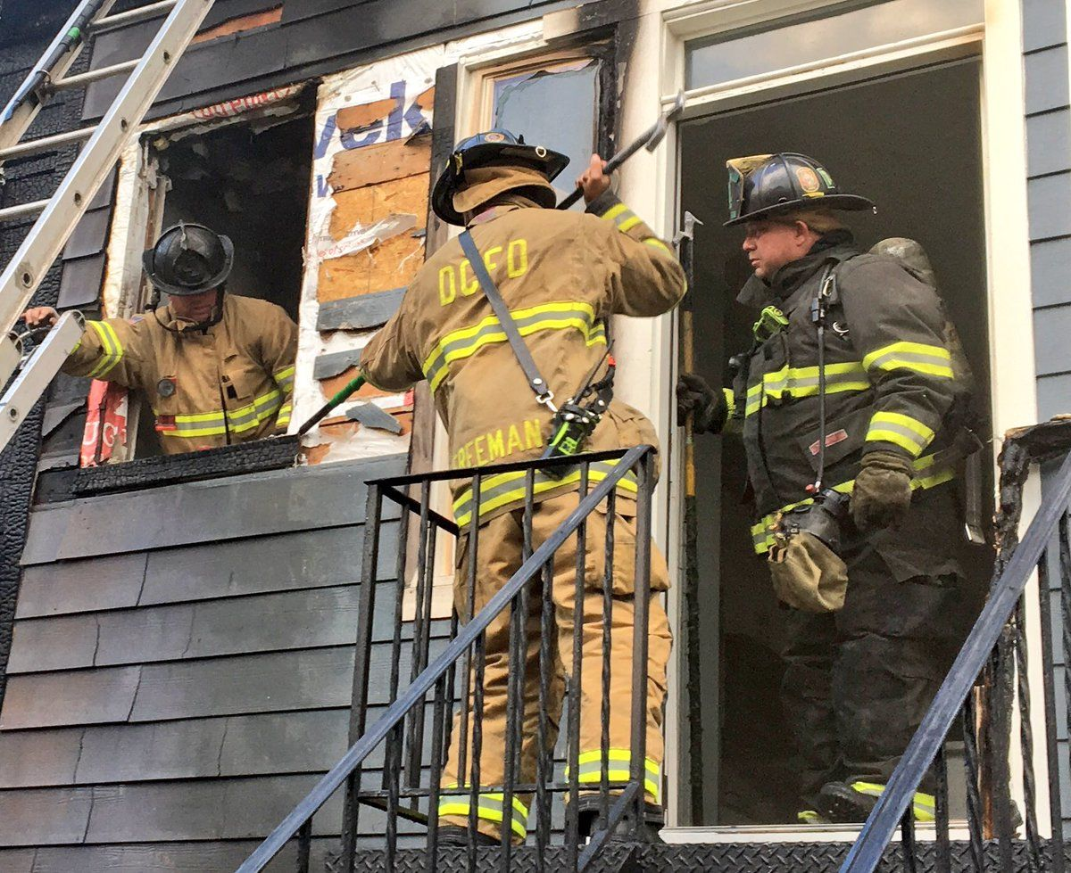 At least two people are displaced because of the fire. (Courtesy DC Fire and EMS)