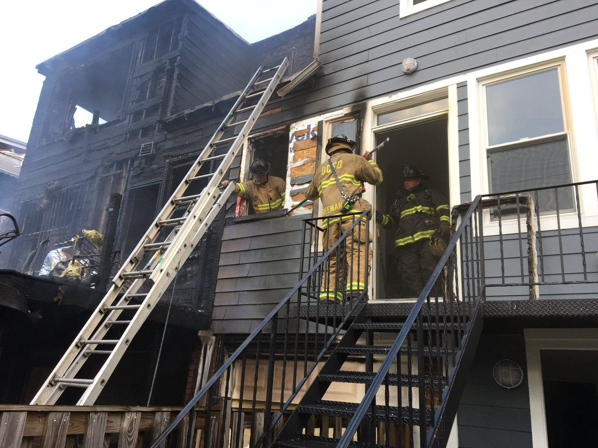 From the porch, the fire extended inside the house and into the attic. (Courtesy DC Fire and EMS)