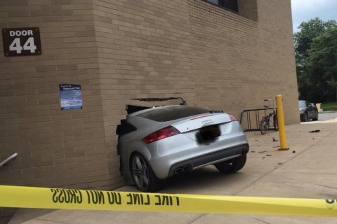 Photos: Car crashes into Alexandria hospital