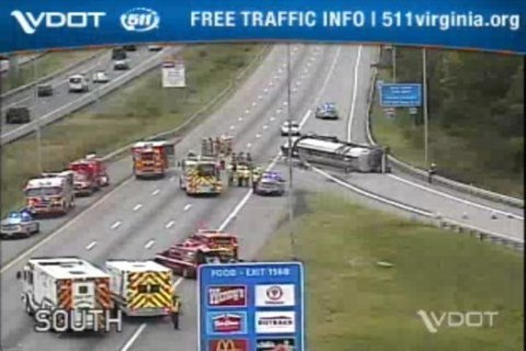 Tolls suspended in E-ZPass lanes after tanker crash on SB I-95