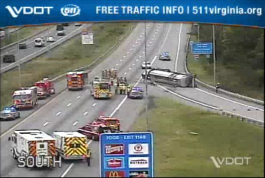 Tolls suspended in E-ZPass lanes after tanker crash on SB I-95 | WTOP