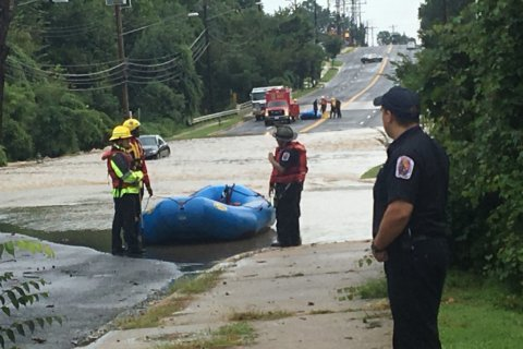 Several rescued amid flooding in Prince George's Co. building, parking lot