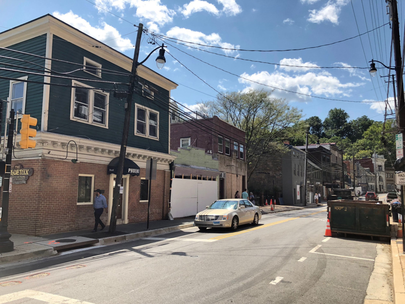 An aggressive new plan to lessen the flood risk in Ellicott City includes the removal of nearly 20 buildings to allow for better drainage. (WTOP/John Aaron)