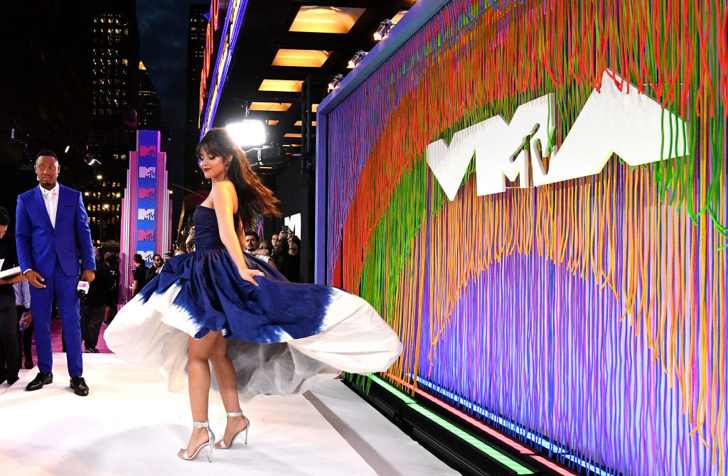 NEW YORK, NY - AUGUST 20:  Terrence J and Camila Cabello attend the 2018 MTV Video Music Awards at Radio City Music Hall on August 20, 2018 in New York City.  (Photo by Dia Dipasupil/Getty Images for MTV)