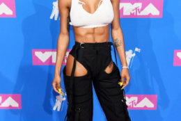 NEW YORK, NY - AUGUST 20:  Teyana Taylor attends the 2018 MTV Video Music Awards at Radio City Music Hall on August 20, 2018 in New York City.  (Photo by Nicholas Hunt/Getty Images for MTV)