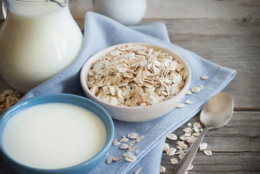 The nut-free, vegan drink is hot in 2018, becoming a commonly requested option in coffeehouses and at grocery stores. (Getty Images)