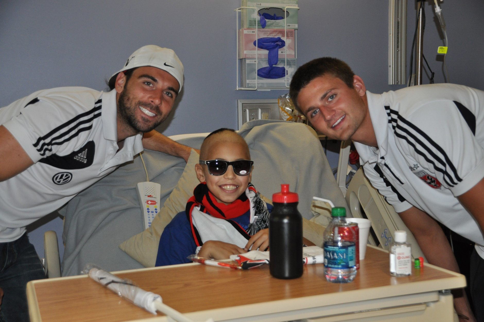 Soccer-loving Mathias Giordano, center, died after a 2-year battle with bone cancer at age 13. The foundation created in his honor spreads awareness and provides D.C. United tickets to families dealing with childhood cancer.(Courtesy Roya Giordano )