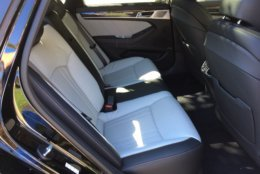 The higher price of Genesis G80 Sport affords an improved interior with more premium looking and feeling seats that are heated and ventilated. (WTOP/Mike Parris)