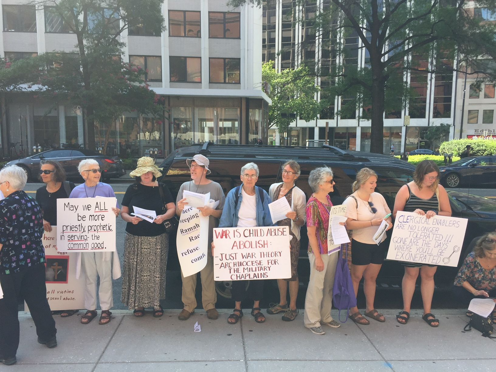Protesters in DC call for changes in the Catholic church, both locally and broadly.