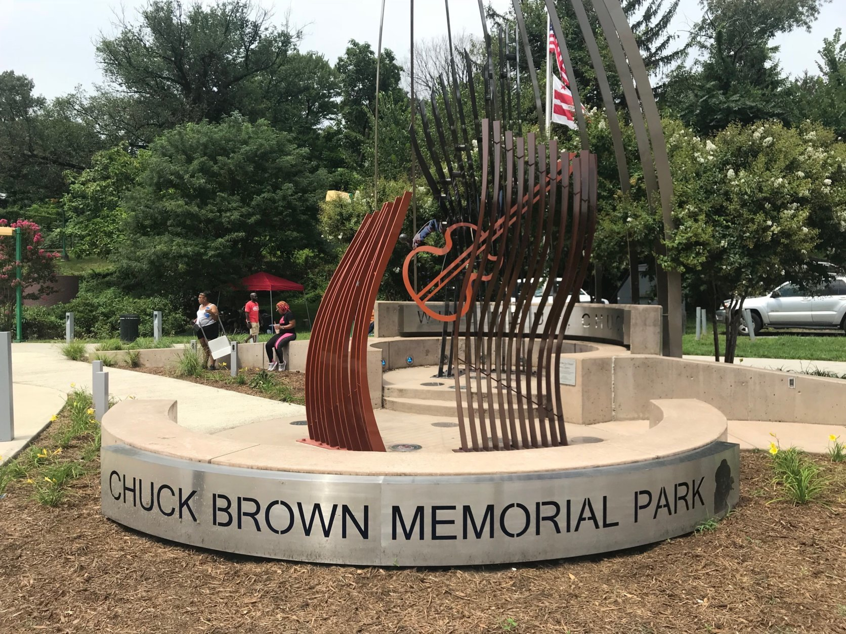 The District saluted one of its most beloved musicians at the park and on the day that bears his name: Chuck Brown Day at Chuck Brown Memorial Park in Northeast D.C. (WTOP/Dick Uliano)
