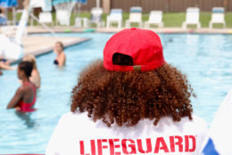 Lifeguards are on duty as instructors work in small groups at the camp. (WTOP/Kate Ryan)