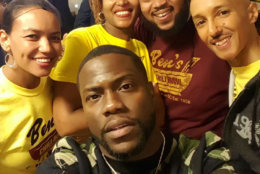 Comedian Kevin Hart and the crew at Ben's. (Couirtesy Ben's Chili Bowl)