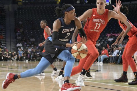 Dream beats Mystics 78-75, Delle Donne goes down with knee