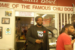 Questlove, of The Roots, at Ben's Chili Bowl. (Courtesy of Ben's Chili Bowl)