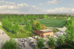 Another view of the fields, which will replace 27 acres of parking lot on the north end of the stadium. (Courtesy: Events DC)