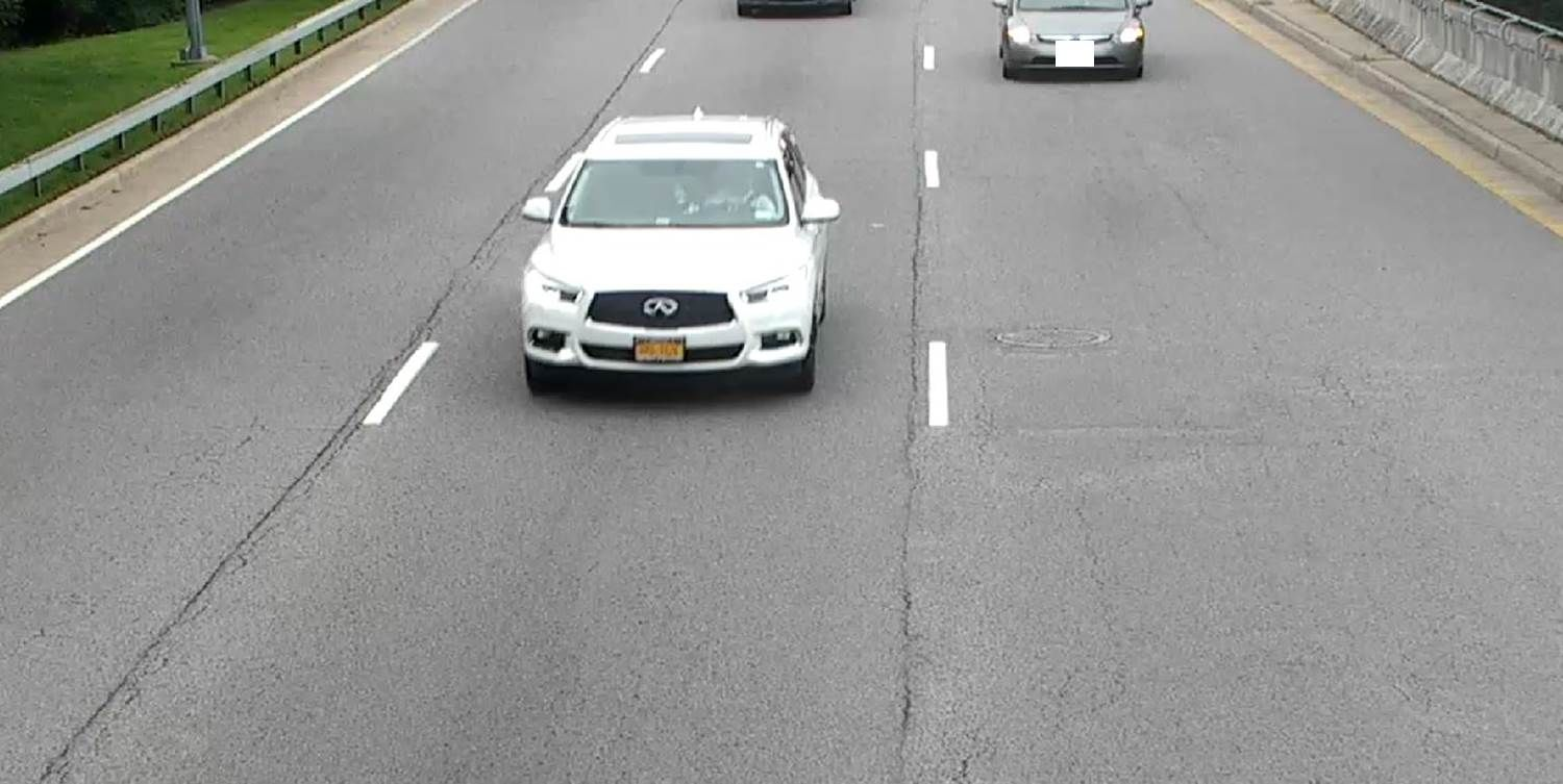 Officials are looking for the vehicle seen here and are still working to identify the license plate. (Courtesy Metropolitan Washington Airports Authority)