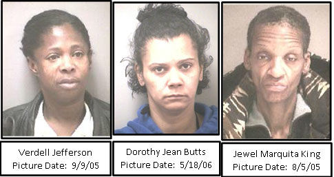 The three women whose remains were found in April at an apartment building in Wayne Place, in Southeast D.C. (Courtesy Metropolitan Police Department)