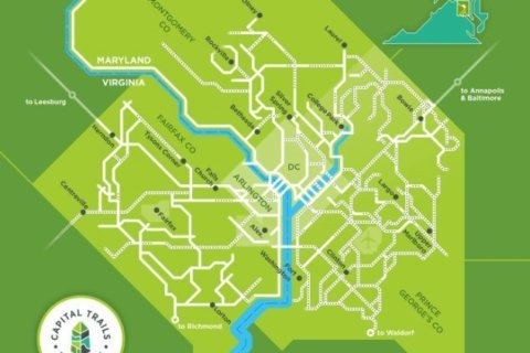 Bike advocates craft map of DC region's cycling trails