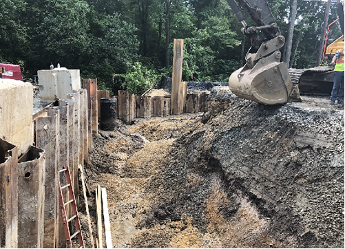 Additional daytime work hours may be added to the Brandywine Road Bridge project to speed up completion. (Courtesy Maryland Department of Transportation State Highway Administration)