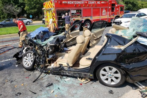 3 injured in severe collision on Rockville Pike