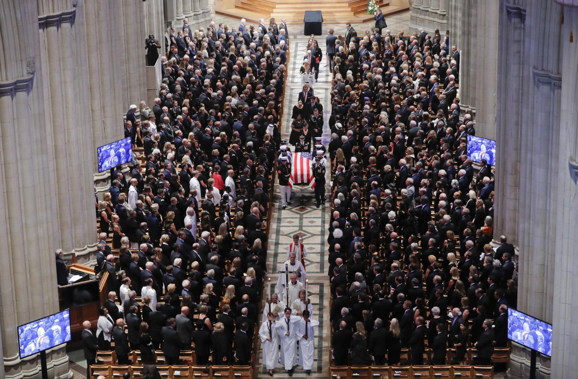 Made me better': Family, friends honor McCain at Washington