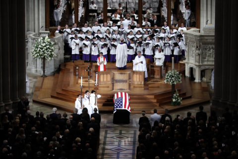 'Made me better': Family, friends honor McCain at Washington National Cathedral service