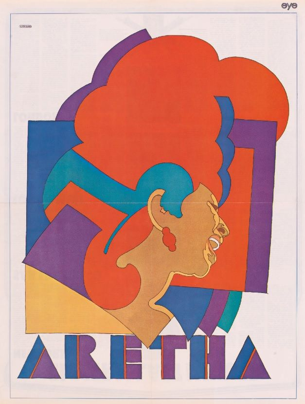 The Aretha Franklin by Milton Glaser, 1968, Color photolithographic poster, National Portrait Gallery, Smithsonian Institution, © Milton Glaser