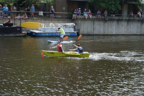More than 1,000 take part in second annual Lake Anne cardboard regatta