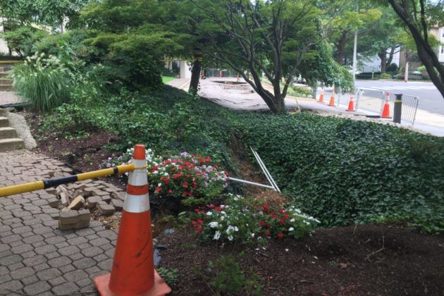 Repairs set to start on large holes in front of Rosslyn condo ...