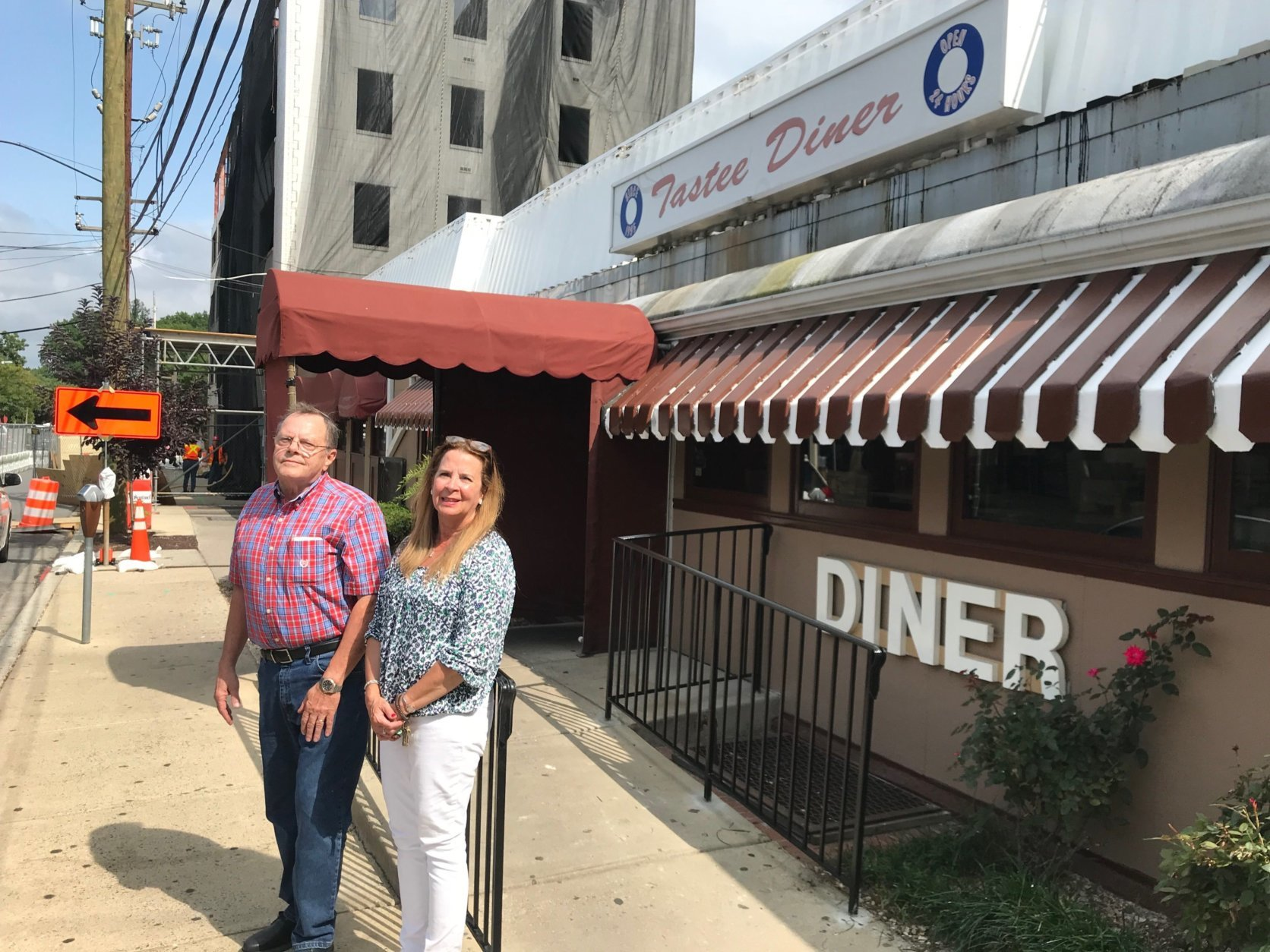 Tastee Diner owner Gene Wilkes and manager Beth Cox are worried about business at their decades-old eatery. (WTOP/Dick Uliano)
