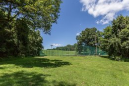 The tennis courts of Tom Clancy's estate. (Courtesy Cummings & Co. Realtors)