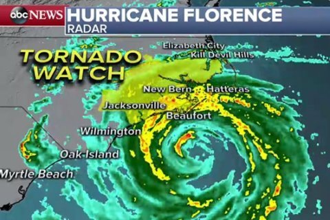 At least 5 dead, including mom and infant, as Florence pounds Carolina coast