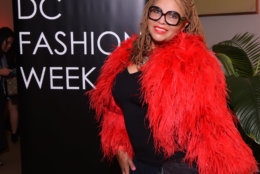 Nicole Peacock of Washington, DC attends the DC Fashion Week International Couture Collections runway show at the Embassy of France on Sunday, September 23, 2018