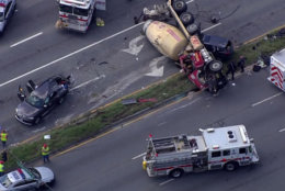 Two were taken by helicopter after the crash Wednesday afternoon. (NBC Washington)