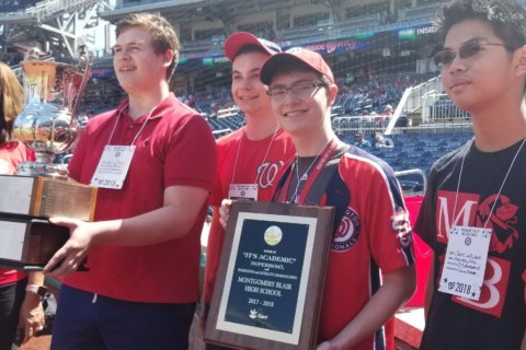 Winning 'It's Academic' team honored at Nationals Park